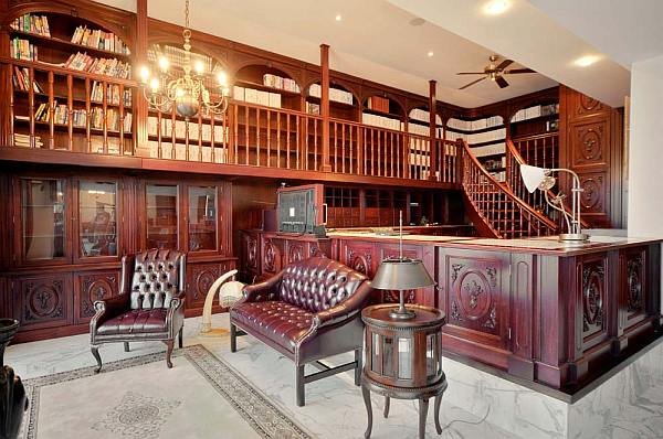 Wooden Library Furniture ~ Luxury penthouse in malta new heights of extravaganza