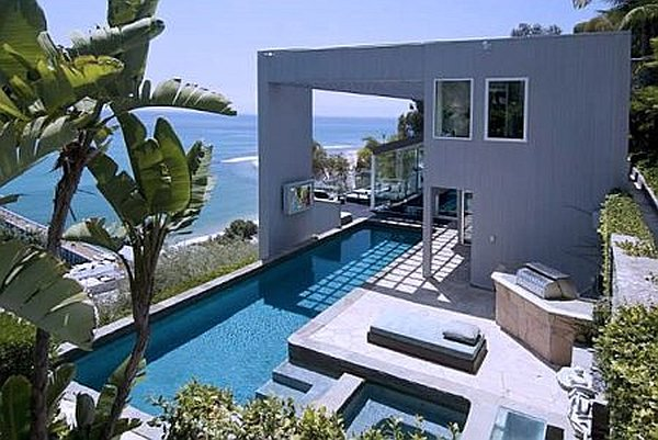 Malibu Contemporary Villa with pool and ocean views Ultra modern Malibu Villa With Outdoor Pool, Spells Luxury