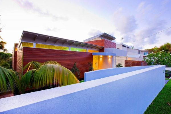 Marcus Beach House wooden exterior Modern Marcus Beach House by Robinson Architects in Queensland