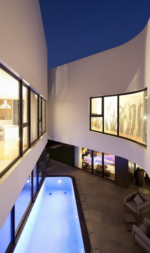 Mop House – interior pool area with loungers