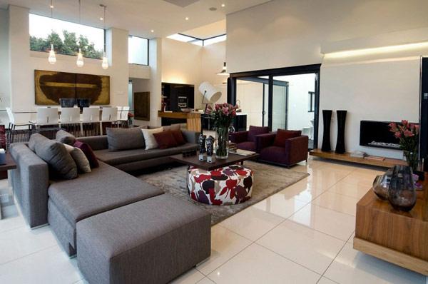 moss oaklands residence in south africa is wonder redesigned - Wohnzimmer Beige Fliesen
