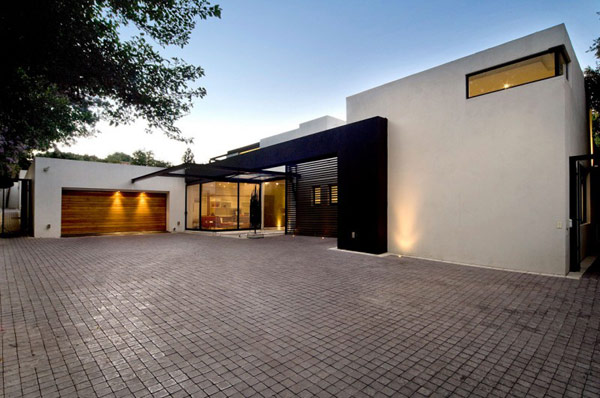 Moss Oaklands Residence wooden garage Moss Oaklands Residence in South Africa is Wonder Redesigned