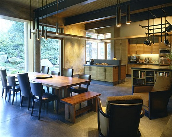 Northwest Family Retreat - kitchen with dining table