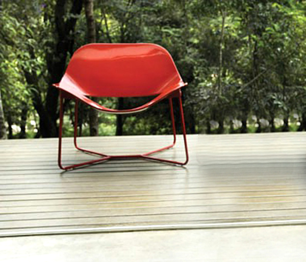 Oakley Red Paint-Red Lacquer Lounge Chair.png