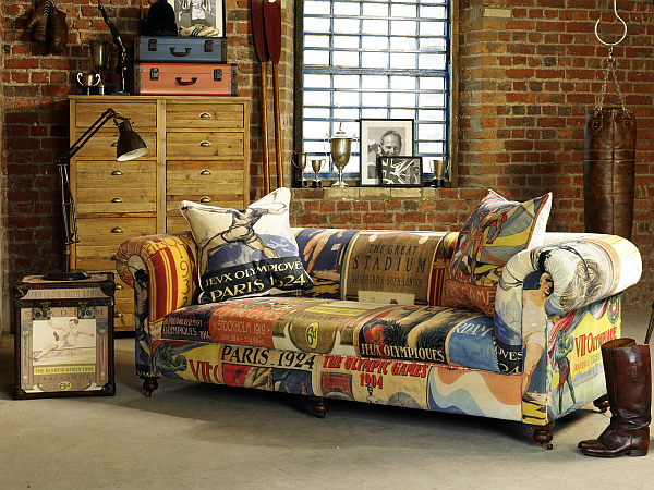 Olympics Furniture sofa and trunk Vintage Olympic inspired Living Room Furniture from Barker & Stonehouse