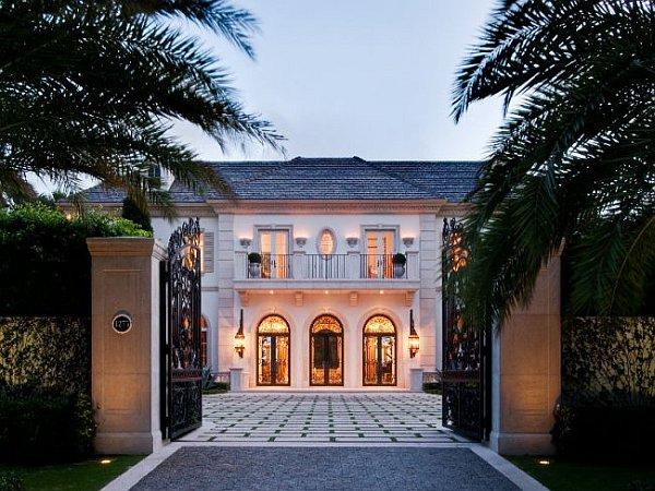 Palm Beach Mansion entry