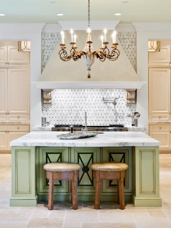 Palm Beach Mansion luxury kitchen with rustic classy elements