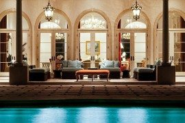 Palm Beach Mansion ultra classy lounge area looks like outdoor living room
