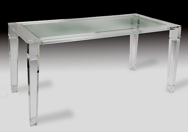 Maximize your space with acrylic furniture - Table plexi design ...