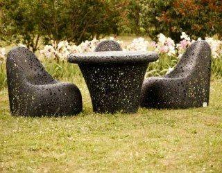 Unique Hand-Crafted Basalt Fiber Furniture by Raimonds Cirulis