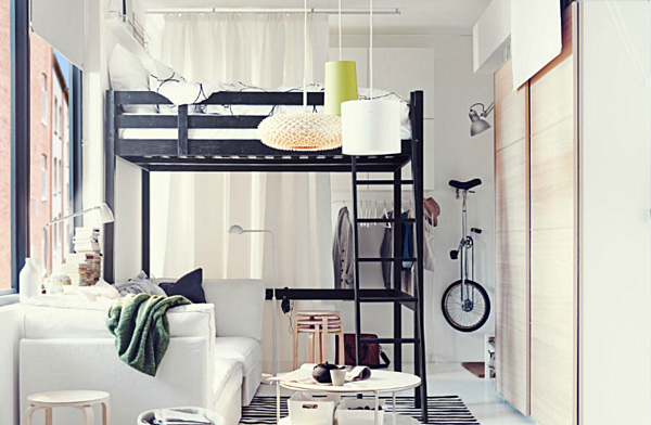 STORA Loft Bed Frame by IKEA.png Furniture for a Compact Living Space