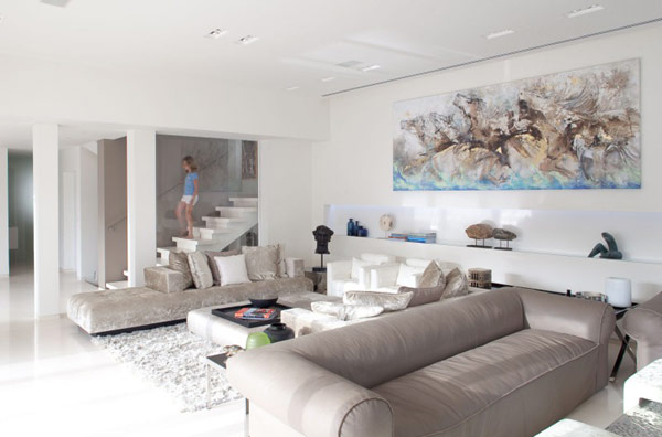 Sea Shell Residence interior by Lanciano Design 2 Elegant and Dynamic Atmosphere on Israels Mediterranean Coast