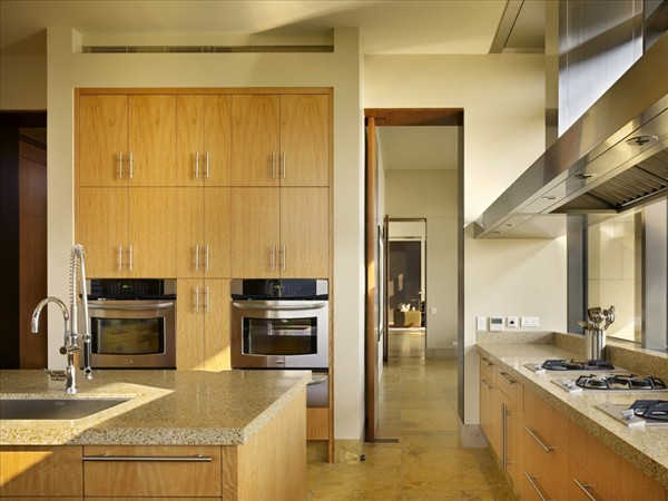 Shek-O Residence Hong Kong Villa kitchen design with island