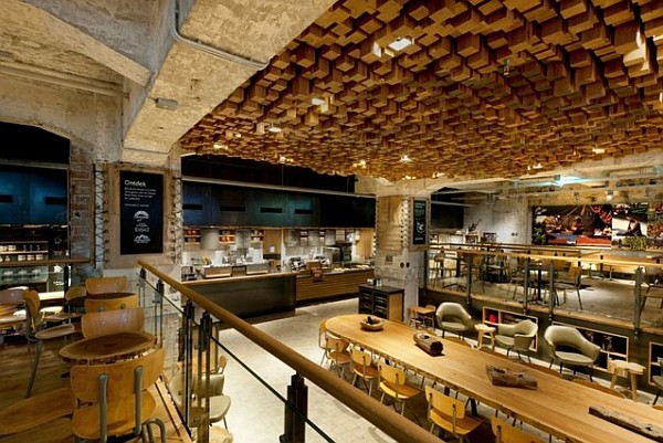 Starbucks concept store in Amsterdam instead of bank vault 2 Starbucks Coffee Lab for a Warm Treat in Amsterdam Center