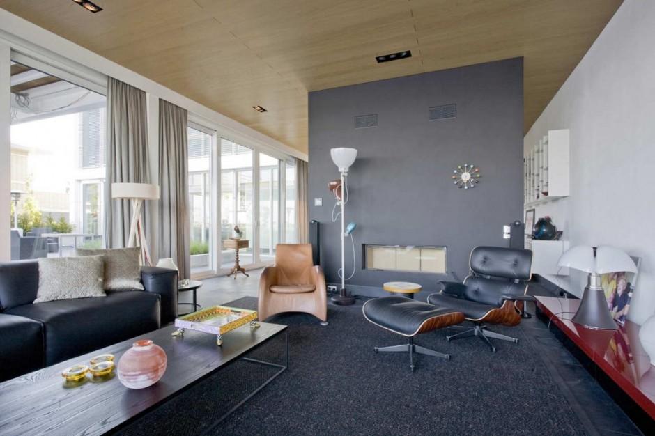 Steel Steady House cool living room idea