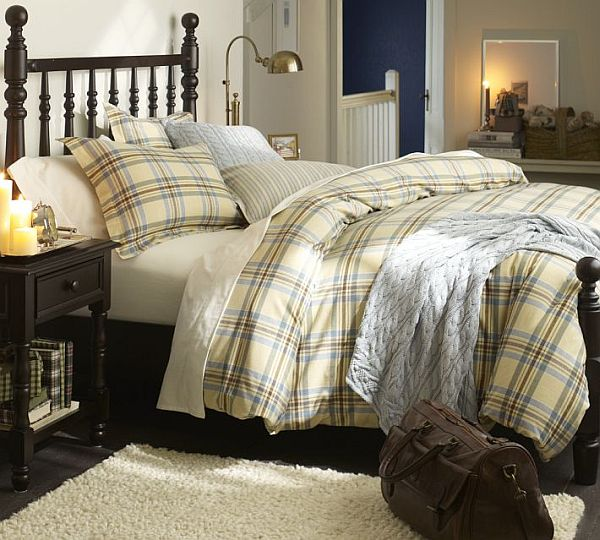 Stratton Plaid Organic Flannel Duvet Cover & Sham 2