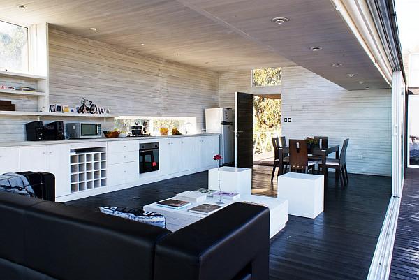 Tacna Hill Beach House wooden interior