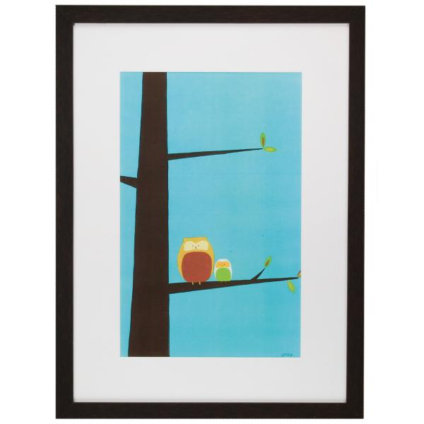 Tree Top Owls I Framed Art