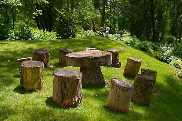 Landscaping Around A Group Of Trees : Tree houses playscapes on trunks stumps and