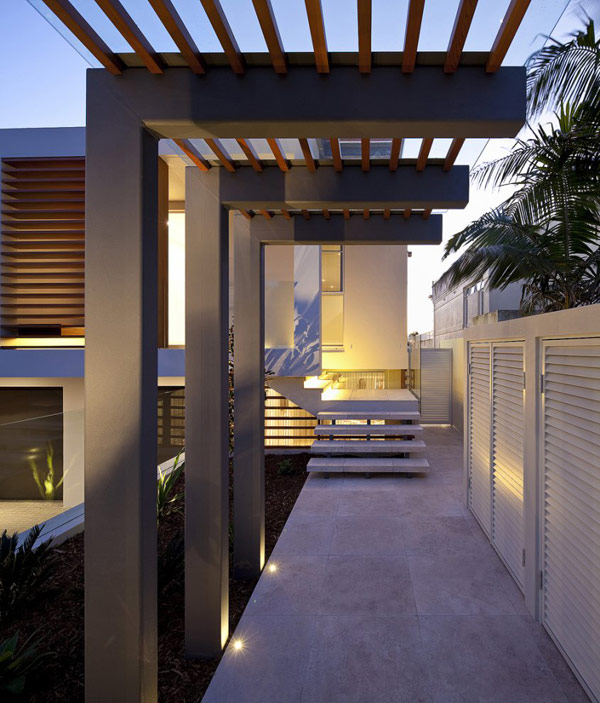 Twin Modern Homes lighting exterior