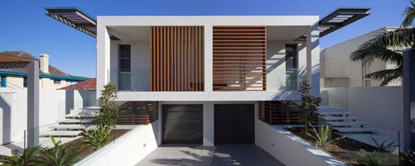 Twin Modern Homes wooden exterior