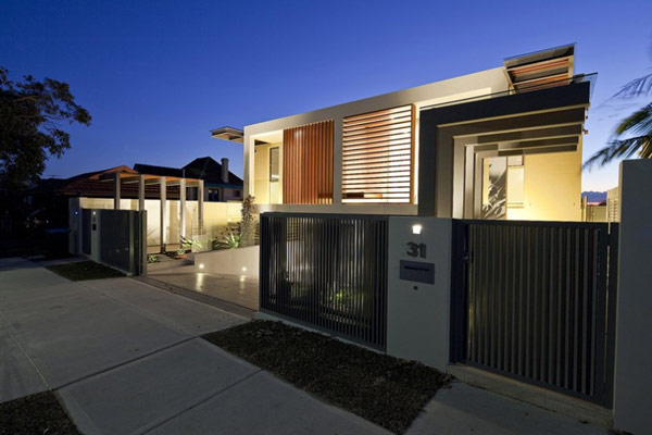 Portland street duplex homes sport great views of the for Modern house designs nsw