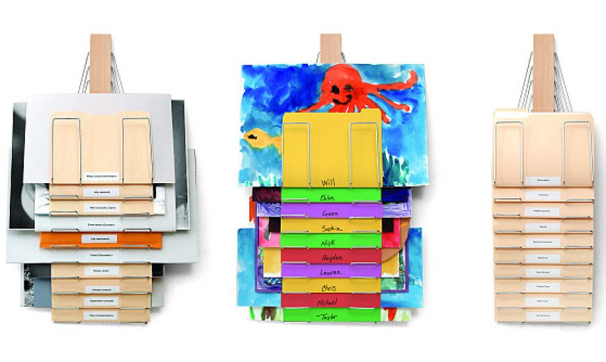 Up Filer Wall-mounted Filing System Spells Convenience