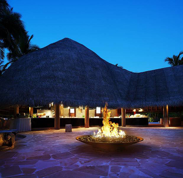W Retreat and Spa in Maldives at night
