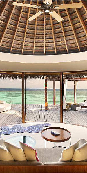 W Retreat and Spa in Maldives bedroo with amazing ocean views
