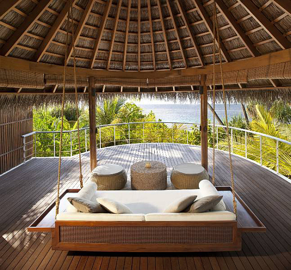 W Retreat and Spa in Maldives luxury patio releaxing spot