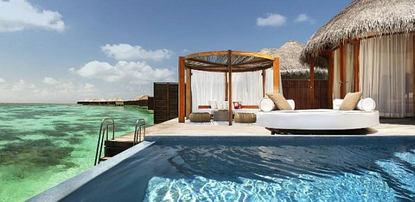 W Retreat and Spa in Maldives pool deck with pation and amazing views
