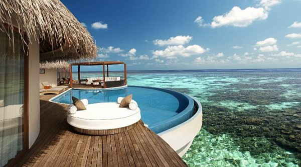 W Retreat and Spa in Maldives pool with stunning views