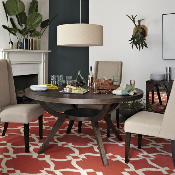 patterned rugs - Dining Room Rug Round Table