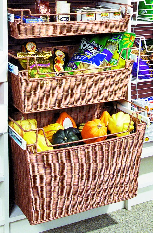 kitchen storage baskets wicker baskets chic storage solutions for home 3119