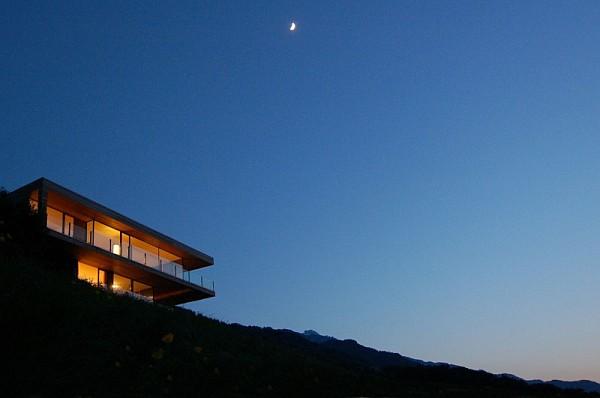 Wohnhaus Am Walensee Swiss House night