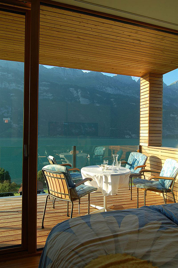 Wohnhaus Am Walensee Swiss House outdoor terrace