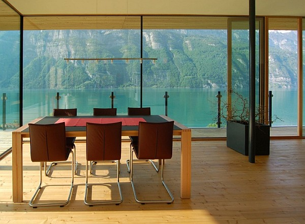 Wohnhaus am walensee lakeside residence is awesome for Ultra modern dining room