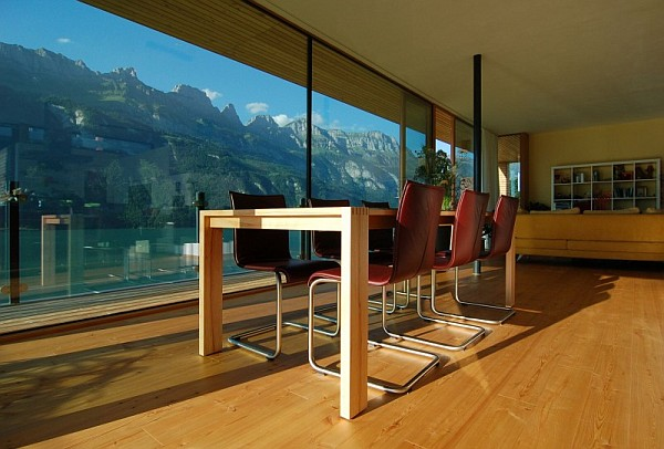 Wohnhaus Am Walensee Swiss House ultra modern interior furniture