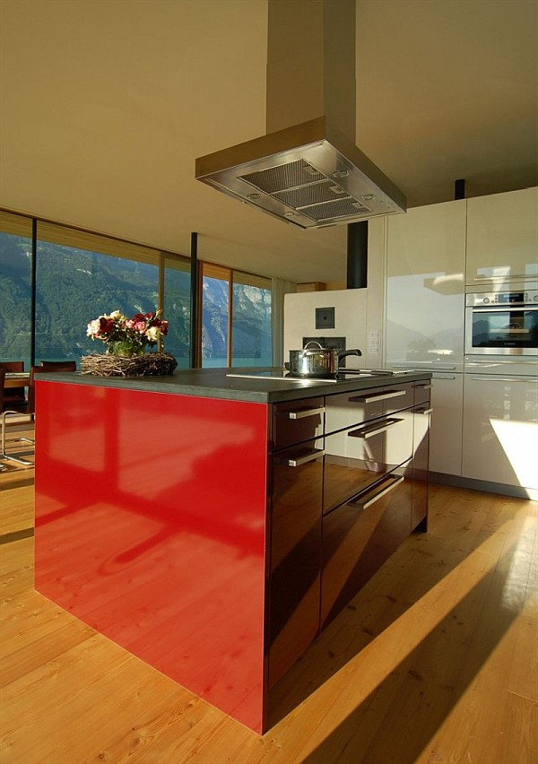 Wohnhaus Am Walensee Swiss House ultra modern kitchen furniture