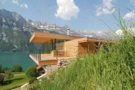 Wohnhaus Am Walensee Swiss Wood & Glass House