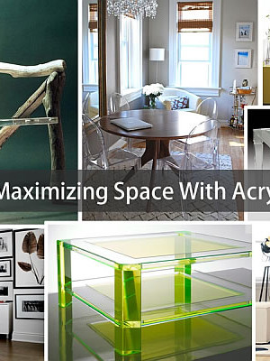 acrylic furniture to maximize space