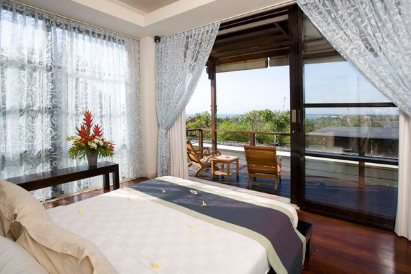 bedroom with amazing views