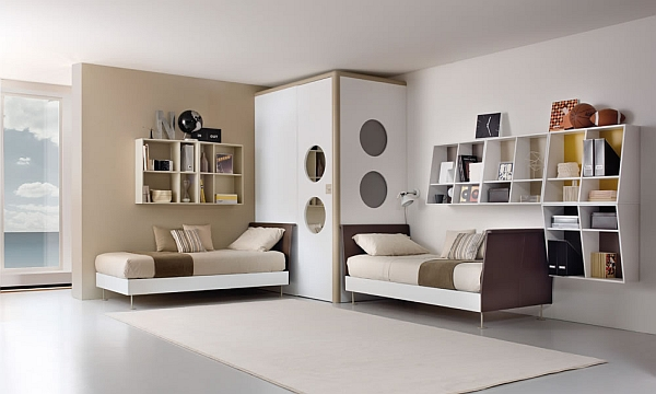 beige modern shared bedroom 23 Shared Bedroom Styles: From Novel Trends to Fancy Ideas