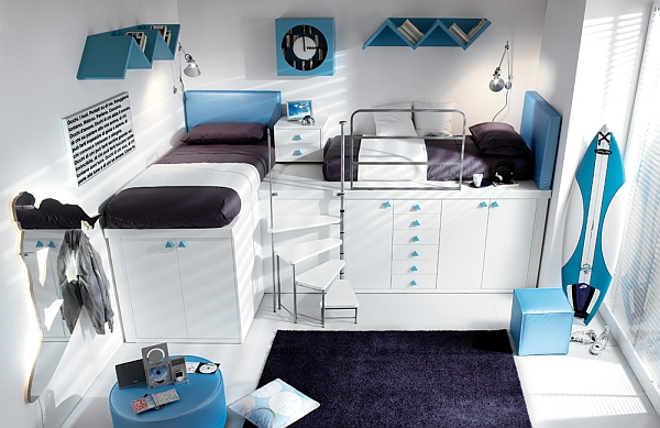 blue purple Shared Bedroom Styles Ideas