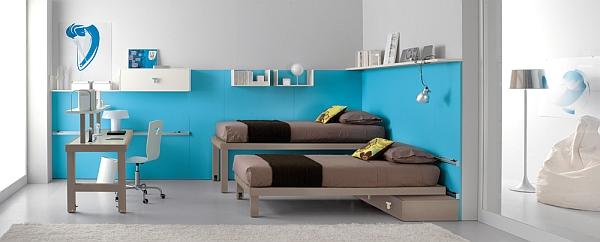 blue shared bedroom ideas