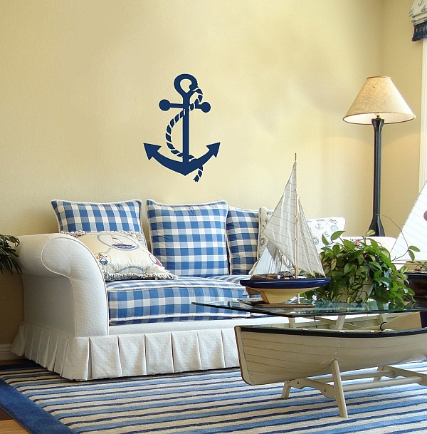 decorating with a nautical theme. Black Bedroom Furniture Sets. Home Design Ideas