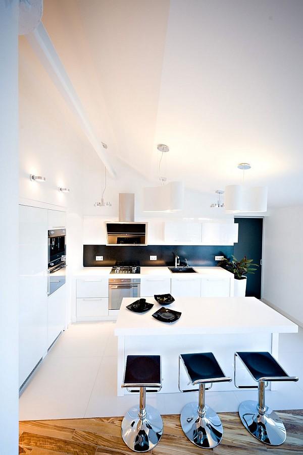 colorful loft apartment ultra modern kitchen
