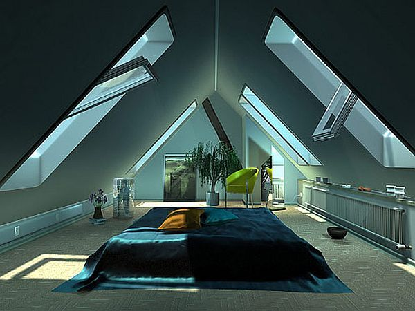 32 attic bedroom design ideas for Cool attic room ideas