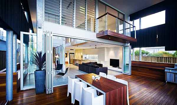 Contemporary beach house interior design decoist for Contemporary beach house interior design