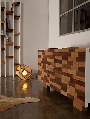 contemporary sideboard design from recycled wood